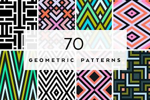 70 seamless geometric patterns set
