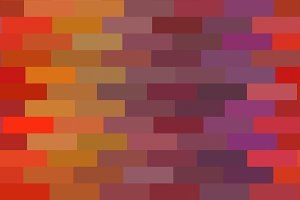 Color Blocks in Oranges, Red, Purple