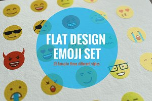 Set of Flat Design Emoji