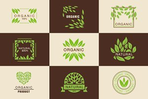 Eco Organic Labels Set