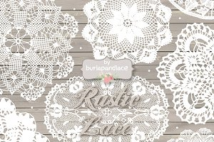 Rustic doily lace