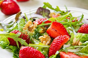 Strawberry with Rocket salad