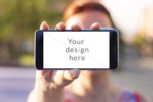 """Modern smartphone """"Full HD"""" mockup"""