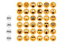 Set of Smilies, Emoticons