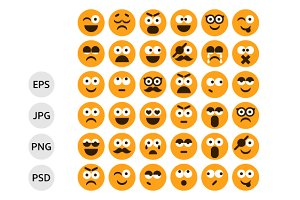 Set of Smilies, Emoticons
