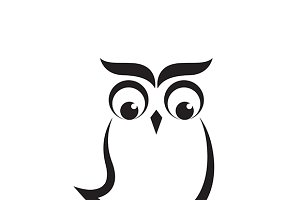 Vector images of an owl design.