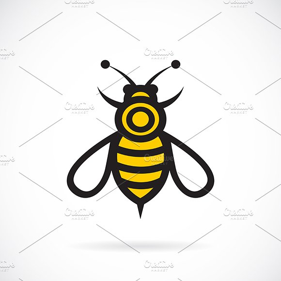 Vector image of a bee design.