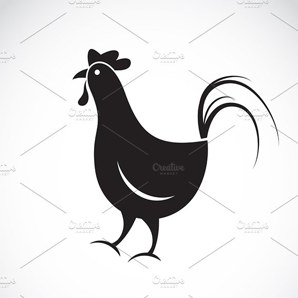 Vector image of a chicken.