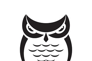 Vector images of owl design.