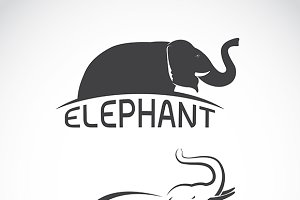 Vector images of elephant design.