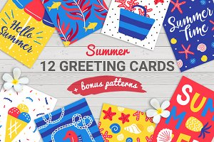 12 Summer Cards + Bonus Patterns