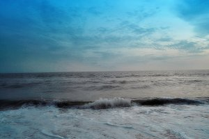 pleasant beach waves