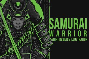 Samurai Warrior Illustration