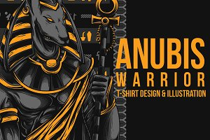 Anubis Warrior Illustration