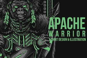 Apache Warrior Illustration