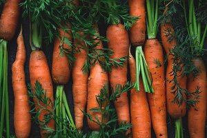 Carrots and tops