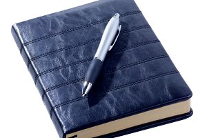Leather Diary and Pen