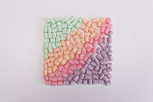 Rainbow marshmallow