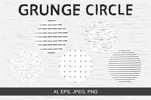 Vector grunge circle textures
