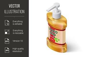 Liquid Soap Isometric