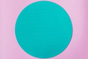 Blue round stand