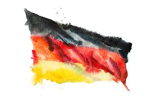 Flag of Germany. Watercolor