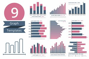 9 Graphs and Charts Templates