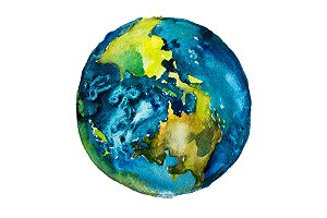Watercolor Earth