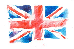 British flag. Watercolour