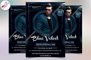 Blue Velvet Club Flyer Template