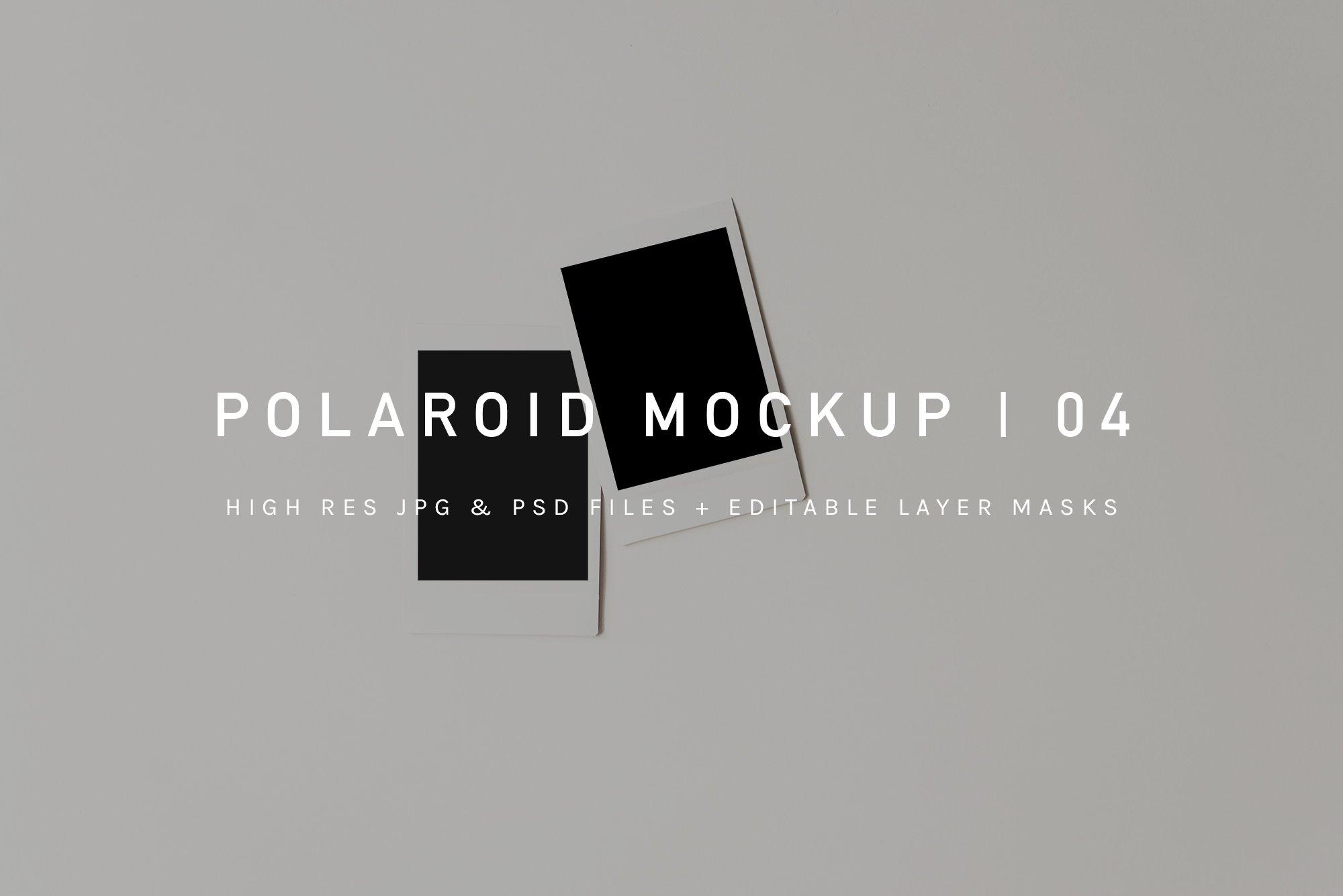 Polaroid Pile Mockup | PSD & JPG ~ Product Mockups ~ Creative Market