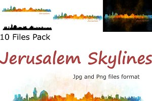 10x files Pack Jerusalem Skylines