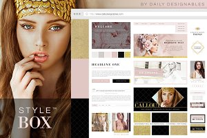 StyleBox Blog Graphics/Website Kit 1