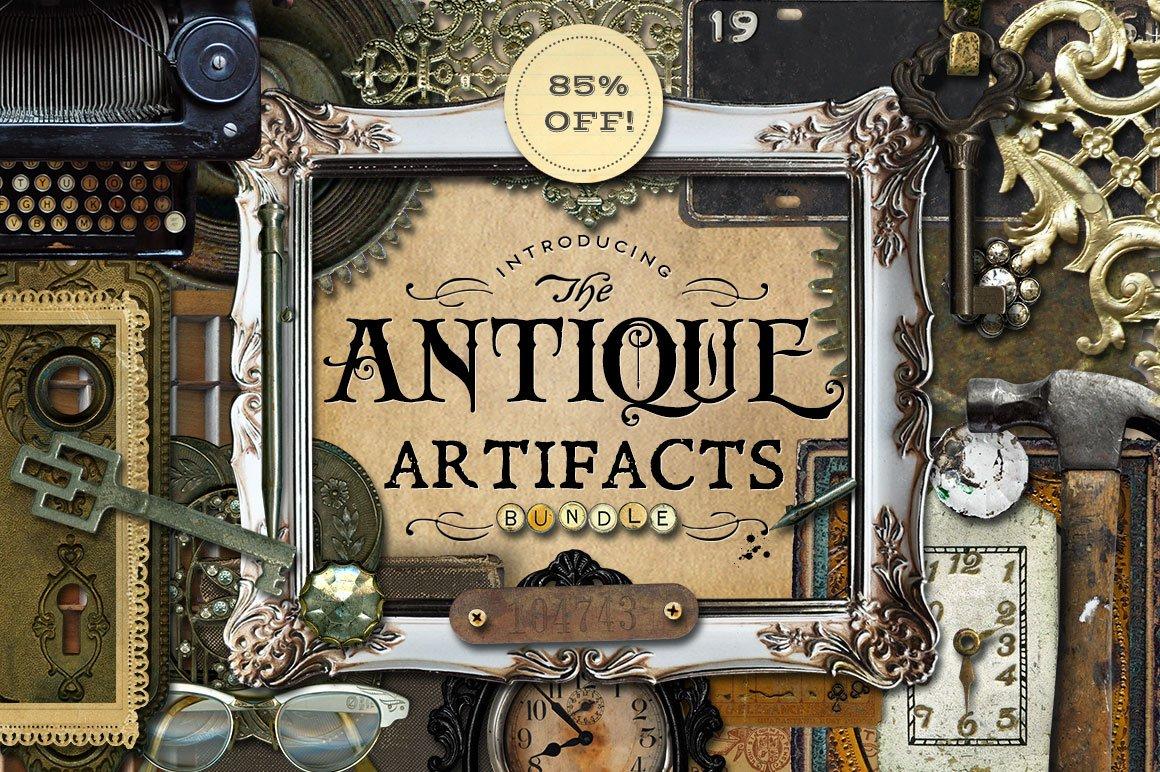 amazing antique artifacts bundle graphic objects creative market