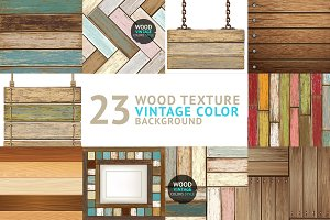 23 Wooden Textures Surfaces.