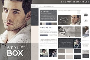 StyleBox Blog Graphics/Website Kit 2