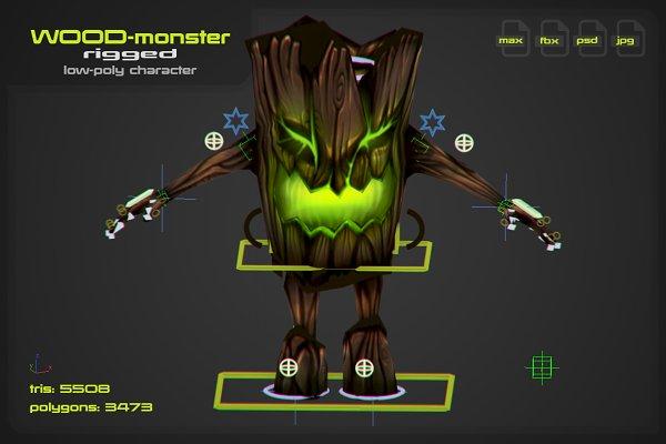 3D Fantasy: stallfish's art store - Wood Monster [rigged]
