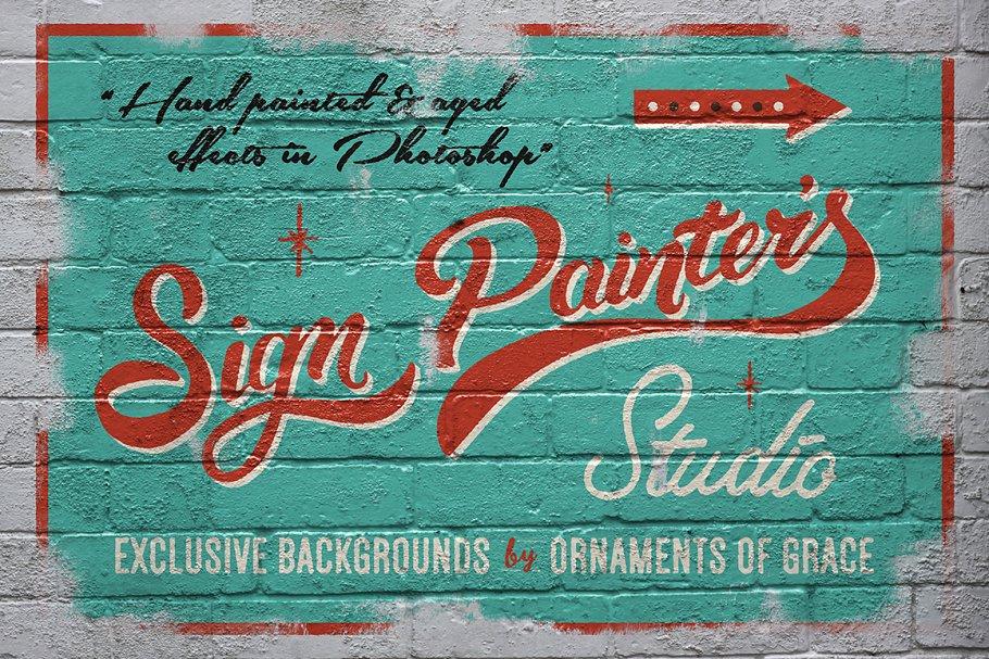 Sign Painter's Studio ~ Photoshop Actions ~ Creative Market