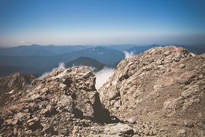 Rocky Mountains Landscape blue