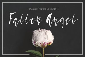Fallen Angel - calligraphic font