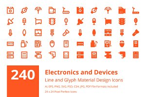 240 Electronics and Devices Icons