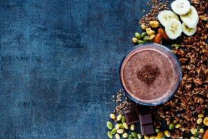 Banana chocolate smoothie
