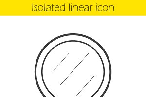 Shaving mirror linear icon. Vector