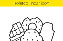 Confectionery linear icon. Vector