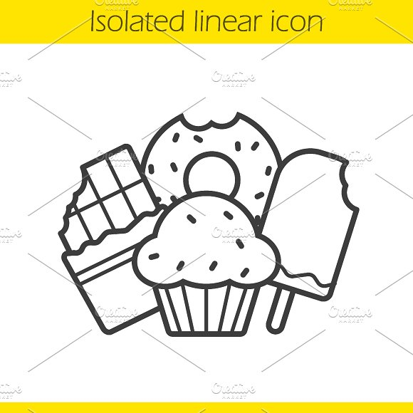 Confectionery linear icon. Vector - Icons