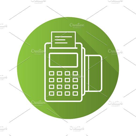 Pos terminal icon. Vector - Icons