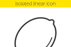 Lemon linear icon. Vector