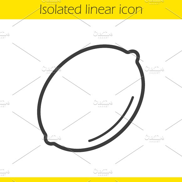 Lemon linear icon. Vector - Icons