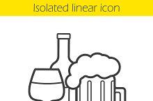 Alcohol linear icon. Vector