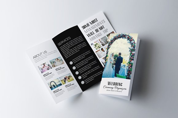 Wedding Trifold Brochure Template